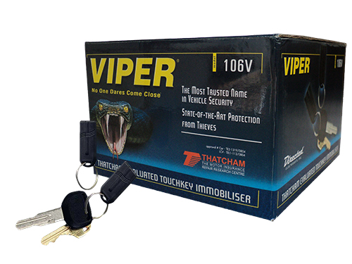 Viper 106V Touch Key Immobiliser with Black Wire and Australian Standards Approved