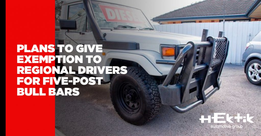 Plans to Give Exemption to Regional Drivers for Five-Post Bull Bars